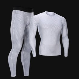 Compression Suits Australia - Fitness Compression Suit Jogging quick-drying Tights Tracksuit Men Workout Set Running tshirt Leggings sport under wear training