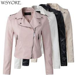 $enCountryForm.capitalKeyWord Australia - WSYORE 2019 New Spring Coat Motorcycle PU Leather Jacket Women Winter And Autumn Fashion Coat Zipper Outerwear jacket NS296