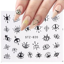 decoration nail art foil Canada - Art Stickers & Decals 1pcs Cute Eyes Designs Nail Stickers Water Transfer Decals Nail Art Decorations Manicure Adhesive Wraps Foil Sl...