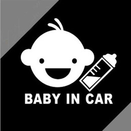 $enCountryForm.capitalKeyWord NZ - 1PC Personality Baby in Car Autos Funny Stickers Reflective Modified Creativer Tail Decals