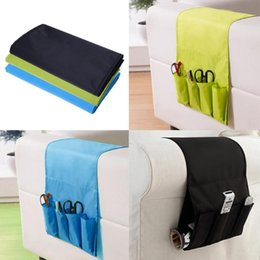 wholesale tv cell phones 2019 - Foldable Bed Sofa Hanging TV Remote Control Storage Bag Portable Cell Phones Magazine Holder Household Organizer Storage