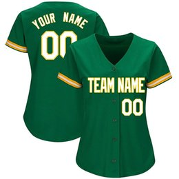 Women s products online shopping - Women Custom Baseball Jerseys Any Name Number Cheap Embroidery Green Jersey High Quality Products Directly Free Ship