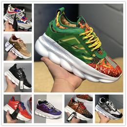 m bag chain 2019 - With Dust Bag Chain Reaction Casual Designer women men Sneakers Sport Fashion Casual Shoes Trainer Lightweight Link-Embo