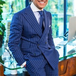 Slim fit pantS cheap online shopping - Hot Sale Peak Lapel Wedding Tuxedos Slim Fit Suits For Men Groomsmen Suit Two Pieces Cheap Prom Formal Suits Jacket Pants Tie