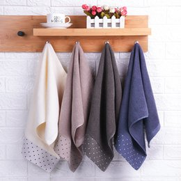 $enCountryForm.capitalKeyWord Australia - ECO-friendly 10 pieces direct sales of new fashion European and American pure cotton couple plain towel logo customization