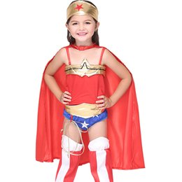 $enCountryForm.capitalKeyWord Australia - Wonder Woman Costumes for Children Girls Cosplay Anime Costumes Play Theatrical Costumes Stage Performance Halloween Clothes