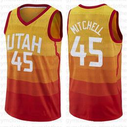 Опт Donovan 45 Mitchell Джерси Jazzes NEW Майк Конли 10 Rudy 27 Гобер Рики Рубио 3 NCAA Мужчины Utahs ретро трикотажные изделия