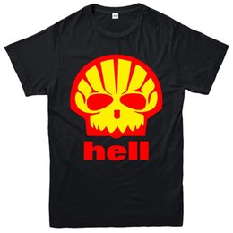 $enCountryForm.capitalKeyWord NZ - Shell Hell T-Shirt As Worn By Heath Ledger Shell Spoof Unisex Adult Kids Tee Top Adult T-Shirt Cotton Fashion T Shirt Top