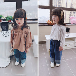 shirts dolls Australia - Small kids 2019 spring and autumn new children's shirt doll shirt tide loose girl baby neck
