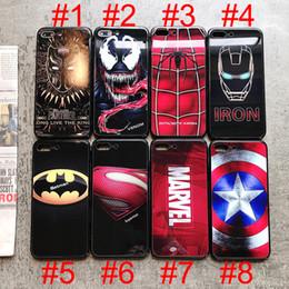 Iron Man Phone Cases Australia - Avenger Phone Case Superm Batman Iron Man Deadpool Spider Man Joker Avenger Soft Phone Case for iPhone 7 7Plus 6 6S 6Plus 5