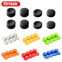 venda por atacado Yoteen 8 pcs silicone polegar vara apertos tampa caps analógico controlador de jogo para ps4 ps3 interruptor pro controlador xbox one xbox 360 para o wii pro