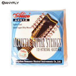Musical Instruments Acoustic Australia - Alice A2012 12 Strings Acoustic Guitar Strings 010-026 Musical Instrument Guitar Parts Accessories 12 Guitarrra Strings