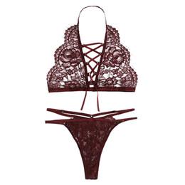 d96693fdda3 bra set Women sexy Lingerie Corset Lace Underwire Racy Muslin Sleepwear  Underwear set Tops+Briefs 2019 women s underwear