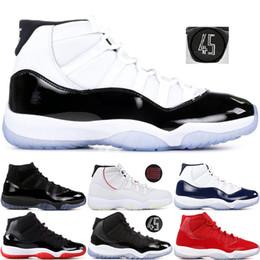 c3dfe7397fbfd 11 Zapatillas de baloncesto para hombre Concord 45 Platinum Tint Space Jam  Gym Gorra roja y bata Bred 11S XI Designer Mujer Zapatillas de deporte  5.5-13