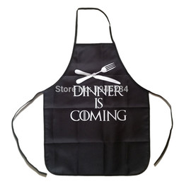 waist knife Australia - Game of Thrones Dinner Is Coming Knife and Fork Apron BBQ Cleaning Cooking Apron Baking Accessories Funny Gift Daily Home Use