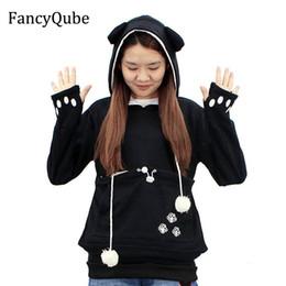 Cartoon hoodies ears online shopping - Casual Animal Ear Hoodie Cartoon Hooded Hoodies Lover Cats Kangaroo Dog Hoodie Cool Long Sleeve Sweatshirt Front Pocket Y190916