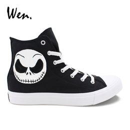 4159e22291647b Custom Canvas shoes online shopping - Wen Design Custom Hand Painted Shoes  Nightmare Before Christmas Jack