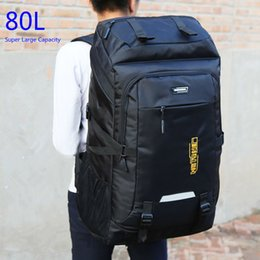 Large Capacity Backpack Australia - Super Large Capacity Package 80l Men Or Women High Quality Luggage Bags Adding Enlarge Widen Capacity Family Big Travel Backpack Y19061102