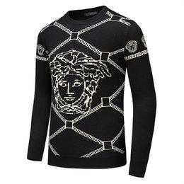 Vente en gros 2019 nouveau designer automne hiver mens chandail classique de la mode pull hommes marque ras du cou vêtements de haute qualité avec 5 taille b8