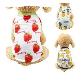 Wholesale banana t shirt for sale – custom B3 Cute Summer Pet dog Vest Clothes Cheap banana Fruit pattern Puppy Dog Cats T Shirt Vest Sweatshirt Mesh Pet Clothing Apparel