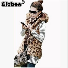 $enCountryForm.capitalKeyWord Australia - Colete De Pele Feminina 2019 Plus Size Women Leopard Print Coat 2019 Hooded Sleeveless Waistcoat Long Style Faux Fur Vest X925