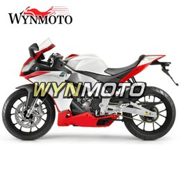 aprilia body kits NZ - Racing White Red Body Work for Aprilia RS125 2012 2013 2014 Fairings Autobike Body Kits RS125 12 13 14 Hull ABS Plastic Injection Body Frame