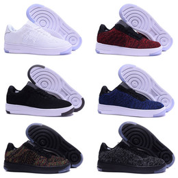 online retailer fef53 86acb nike air force 1 one flyknit new style fly line Uomo Donna High low lover Skateboard  Shoes 1 Una maglia a maglia taglia 36-45