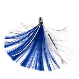Tuna Trolling Lures Australia - 6.5inch Copper Head Nylon Skirt 4 colors Seawater Big Game Trolling Lures Tuna Marlin fishing lures