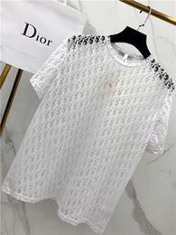 T shirT logos design online shopping - 19ss luxurious brand design Di O Hollow logo lace t shirt Men Women Breathable Fashion Streetwear Sweatshirts Outdoor t shirt