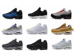 74be80b958 20th Anniversary MID Shoe 95s Sneakerboot 95 black white Army Boots mens  Autumn Winter cushion ankle Sealed-zip running shoes 36-45