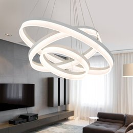 Acrylic Hanging Pendant Light Australia - JESS Modern LED Pendant Lights For Dining Living Room Hanging Circel Rings Acrylic suspension luminaire Pendant Lamp Lighting lampen