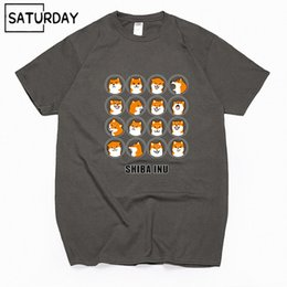 4280e329 Mens luxury brand designer t shirts Men's Doge Funny Cotton T-Shirts Unisex  Summer Dog Workout Tshirts Women Shiba Inu Tops Boyfriend Gift