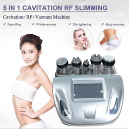 5in1 portatile vuoto ultrasonica liposuzione cavitazione RF bipolare Radio vuoto frequenza rimozione di cellulite grassi ultrasuoni macchina brucia in Offerta