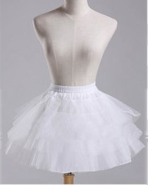 $enCountryForm.capitalKeyWord Australia - High Quality Stock White Ballet Petticoat Tulle Ruffle Short Bridal Petticoats Lady Girls Underskirt For Wedding Dress
