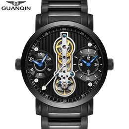 $enCountryForm.capitalKeyWord NZ - Guanqin New 2018 Mechanical Watches For Men Waterproof Tourbillon Automatic Skeleton Watch Men Luxury Relogio Masculino Sport A J190706