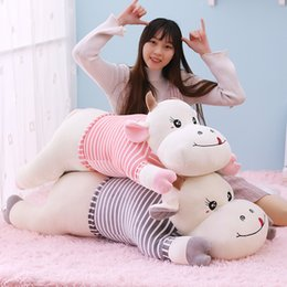 soft toy cow NZ - New Cute Giant Cows Plush Toy Soft Cattle Stuffed Animal Toys Cartoon Cow Pillow Cushion Kids Girls Children Birthday Present 20170615