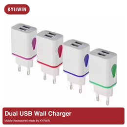 $enCountryForm.capitalKeyWord NZ - Water-drop LED Light Dual USB Ports Wall Charger With Different Color Home Travel Power Adapter 5V 1A AC US EU Plug For Samsung
