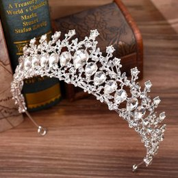 bridal piece wedding dress UK - 2020 New Wedding Bridal Tiara Rhinestone Head Pieces Crystal Bridal Headbands Hair Accessories for Evening Bridal Dresses