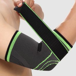 elastic elbow brace Australia - & Knee Pads Support Bandage Compression Elbow Protective Pad Absorb Sweat Gym Sport Elastic Basketball Arm Sleeve Elbow Brace