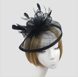 $enCountryForm.capitalKeyWord NZ - Halloween hemp cap noble banquet Hat Ball mesh headdress bride gauze hairdress