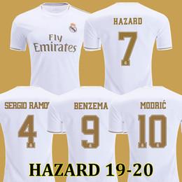 Großhandel Fußball Trikots Real Madrid 19 20 Gefahr JOVIC MILITAO soccer jersey T-Shirt 2019 2020 kids VINICIUS JR ASENSIO Fußball Trikot Kinder MARCELO ISCO T-Shirt