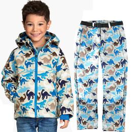 Waterproof Suit Kids Australia - 110 -170 cm Kids Outdoor Soft Shell Jacket Pants Waterproof Windproof Clothes Boy Girl Spring Camping Coat Climbing Hiking Suit