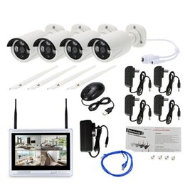 $enCountryForm.capitalKeyWord Australia - Full HD 1080P Camera 4CH Plug And Play 2.0 MP NVR CCTV Kit 12'' LCD Monitor Outdoor Indoor IR POE Security System