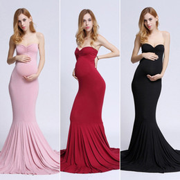 4bfdcc54a01 2019 Maternity Dress Off Shoulder Sleeveless Maxi Long Elegant Maternity  Dress Clothes For Photography Props