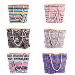 $enCountryForm.capitalKeyWord Australia - 6styles Geometric Figure Bags Printing Female Canvas Bag Shoulder Bag handbag Wild Large Capacity Simple Wild Casual Beach Bag FFA2513