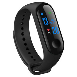 $enCountryForm.capitalKeyWord Australia - M3 fitness watch smart bracelet fitness tracker with heart rate detection, sleep detection color LCD monitor removable strap