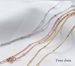Discount small gold pendant designs - China High Quality Small Beads Chokers O Chain Twist Chain Necklace Golden Charm Jewelry gold necklace designs for women