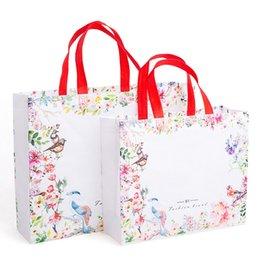 $enCountryForm.capitalKeyWord Australia - 1PC Flower Print Foldable Shopping Bag Reusable Eco Shopper Bag Large Women Storage Tote Pouch Non-Woven Grocery Shopping Bags