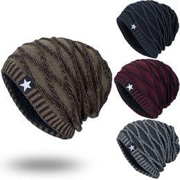 Crochet Beanie Hats For Men Australia - Unisex Knitted Warm Cap For Men Star Hedging Head Hat Beanie Cap Warm Winter Outdoor 2018 Casual Hat Men Bone Masculino D28