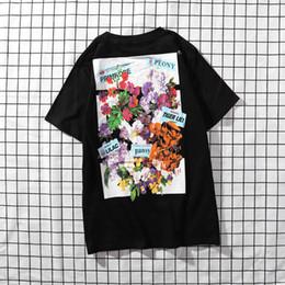 $enCountryForm.capitalKeyWord Australia - new Mens Designer T Shirt Premium Brand White T Shirts Floral Print Womens TShirts High Street Hip-hop tee Fashion Men Clothing Luxury tees